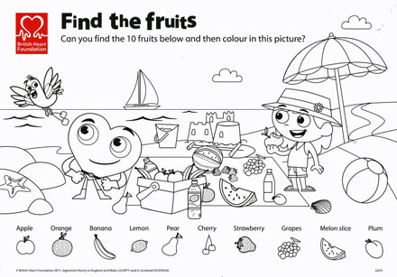 find the fruits colouring activity sheet worksheet free printable worksheets for 6 year olds - Printable Activity Sheets For 10 Year Olds